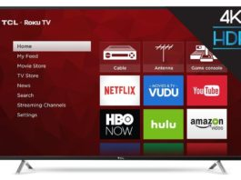 "TCL 55"" Roku Smart TV Ultra HD 4K Modelo 55S405-MX"