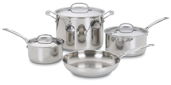 Cuisinart 77-7 Chef's Classic Stainless 7-Piece Cookware Set