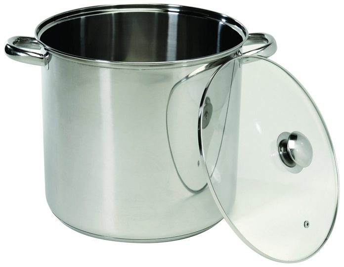 Excelsteel 549 Stainless Steel Stockpot with Encapsulated Base 12-Quart